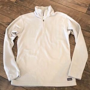 Patagonia Grey Fleece 3/4 Zip Sweater Jacket